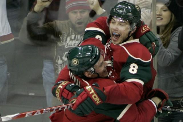 Le défenseur Brent Burns a marqué en prolongation et le Wild du Minnesota a... (Photo: Reuters)