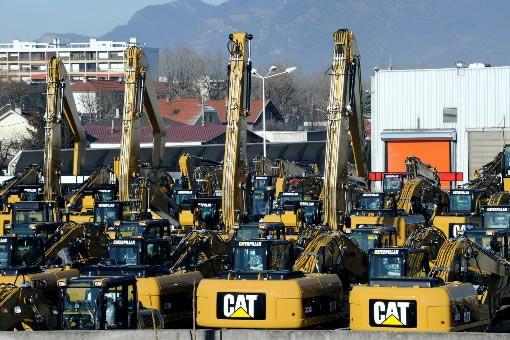 Le constructeur américain d'engins de chantier Caterpillar a revu mardi en... (Photo: Agence France-Presse)