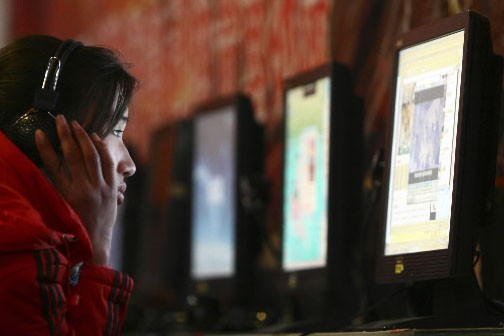 Un café internet en Chine... (Photo: AP)