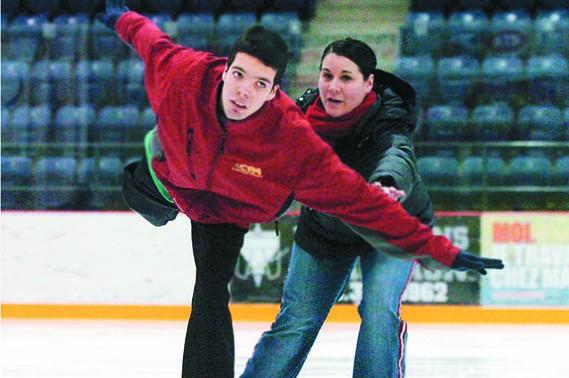 Simon Dionne et son entraîneure Nancy Leclerc se... (Photo: François Gervais)