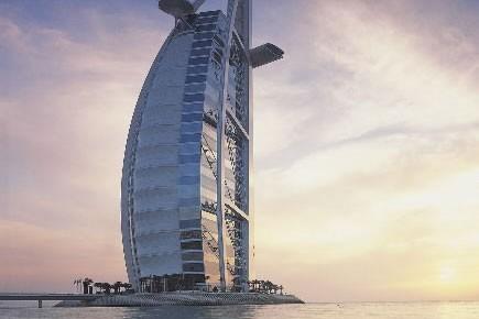 Le Burj Al Arab hôtel, à Dubaï....