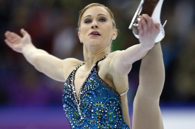 Joannie Rochette estime qu'elle doit continuer à améliorer... (Photo: PC)