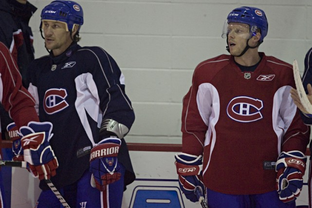 Alex Kovalev et Saku Koivu évolueront sur le... (Photo: François Roy, La Presse)