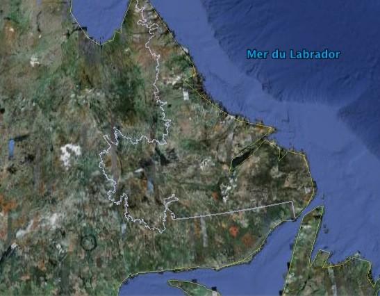 Selon le gouvernement terre-neuvien, la série de quatre... (Google Earth)