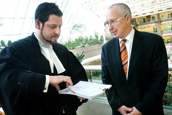 L'avocat de CHOI, Me René Dion a terminé... (Le Soleil, Jean-Marie Villeneuve)