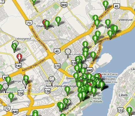 Zap Québec offre une carte des points d'accès... (Zap)