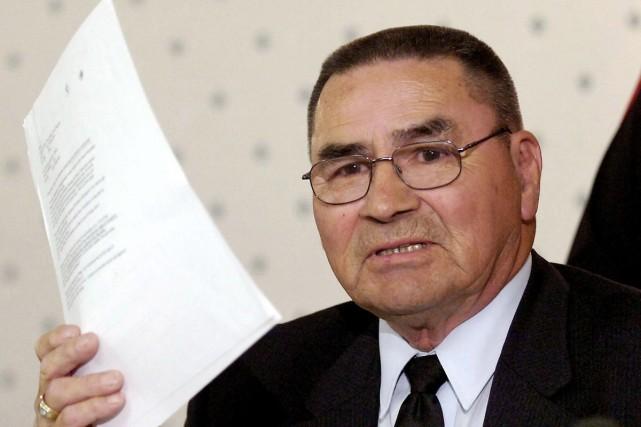 En Saskatchewan, l'ancien leader autochtone David Ahenakew a été acquitté,... (Archives La Presse Canadienne)