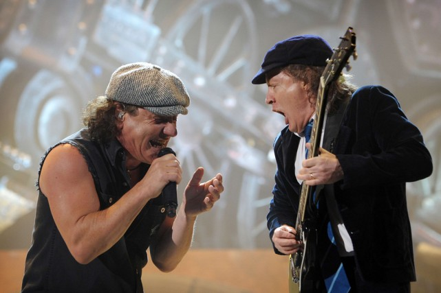Brian Johnson et Angus Young.... (Photo: AFP)