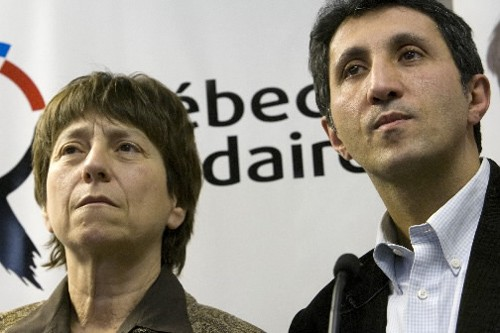 Les porte-parole de Québec Solidaire, Françoise David et... (Photo: David Boily, La Presse)