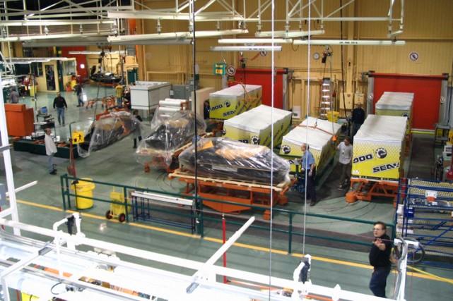 L'usine de Valcourt de Bombardier Produits Récréatifs... (Photo: Bombardier Produits Récréatifs)