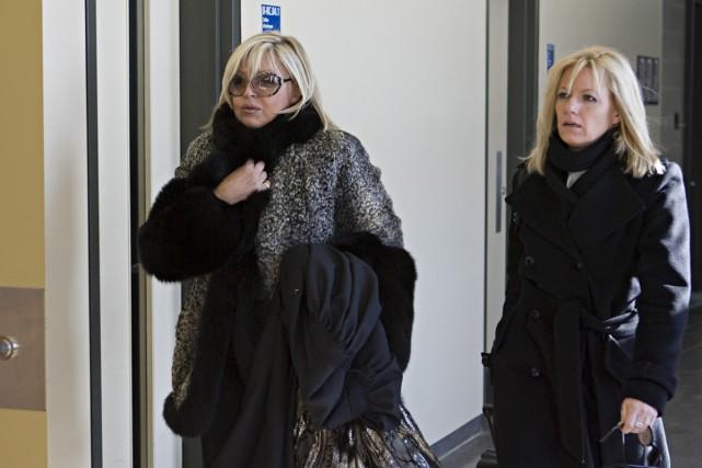 Michèle Richard s'est présentée au palais de Saint-Jérôme... (Photo: François Roy, La Presse)