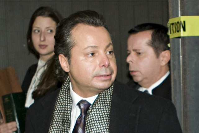 Louis Pasquin était présent au palais de justice... (Photo: David Boily, La Presse)