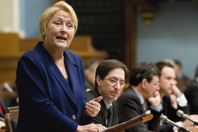 Pauline Marois juge que le gouvernement Charest n'a... (Photo: PC)