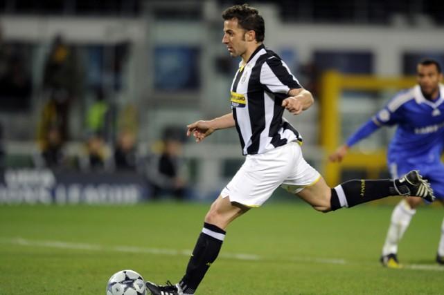 L'attaquant Alessandro Del Piero, de la Juventus de... (Photo: AFP)
