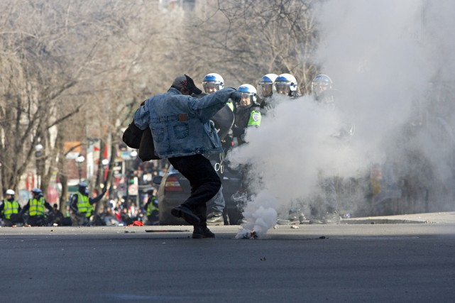 La manifestation contre la brutalité policière, qui s'est déroulée le 15 mars... (Photo: François Roy, La Presse)