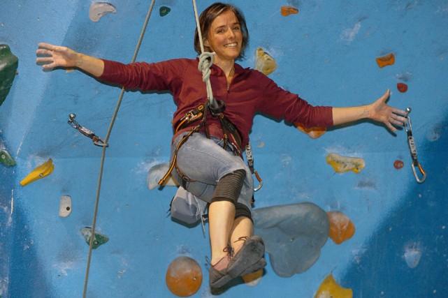 Josie-Anne Brunette a eu la piqûre de l'escalade... (Photo: Focus1)