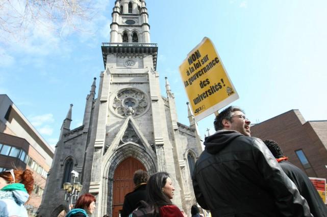 Les professeurs de l'UQAM, en grève depuis le... (Photo: Patrick Sanfaçon, La Presse)
