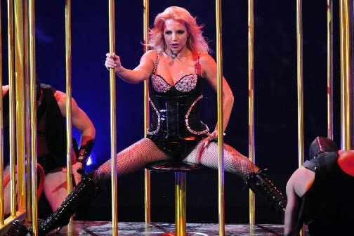 Britney Spears lors de son spectacle à Montréal... (Photo Bernard Brault, La Presse)