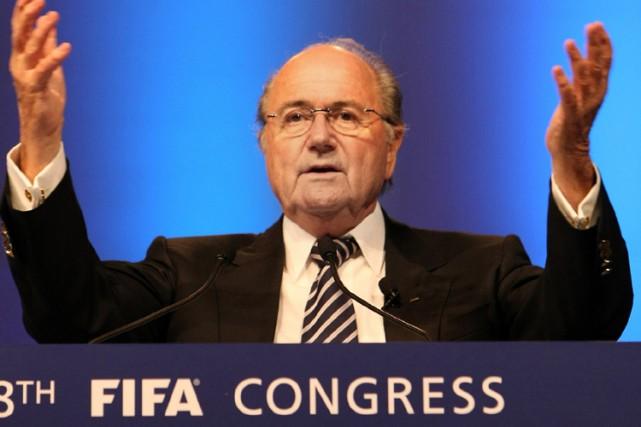 Le président de la FIFA, Joseph Blatter... (Photo: AFP)