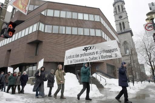 Les professeurs de l'UQAM ont voté à 91% en faveur d'une prolongation de leur... (Photo: Armand Trottier, La Presse)