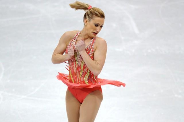 Joannie Rochette a réalisé une performance sans faute... (Photo: AFP)
