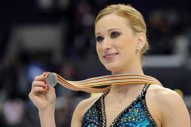 Joanie Rochette a gagné la médaille d'argent des... (Photo: AFP)