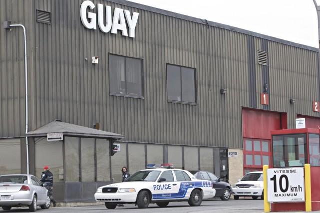 L'entreprise les Grues Guay a été visitée par... (Photo: Patrick Sanfaçon, La Presse)