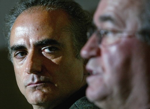 Calin Rovinescu, photographié en 2003 avec Buzz Hargrove,... (Photo: La Presse Canadienne)
