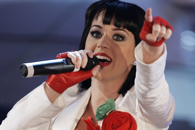 L'Américaine Katy Perry lors d'un concert en Italie... (Photo: AP)