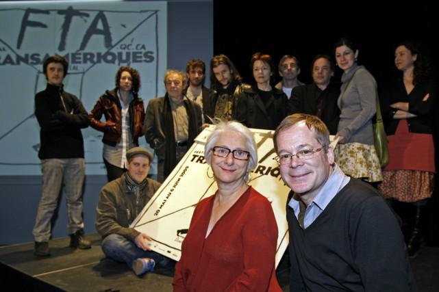 La directrice artistique du FTA, Marie-Hélène Falcon, en... (Photo: Robert Mailloux, La Presse)