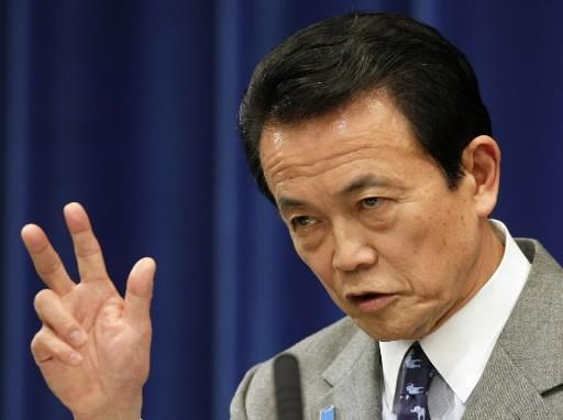 Le premier ministre Taro Aso et son gouvernement... (Photo: Associated Press)