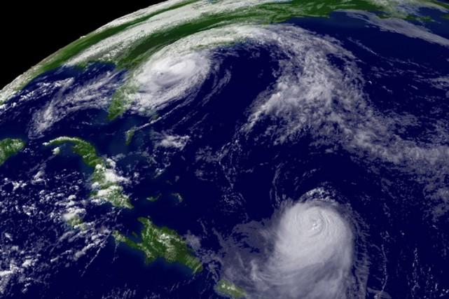 Image satellite de l'océan Atlantique.... (Photo: AFP)