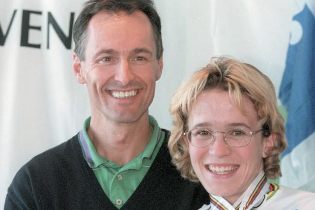 Geneviève Jeanson avec son entraîneur André Aubut en... (Photo: Martin Chamberland, La Presse)