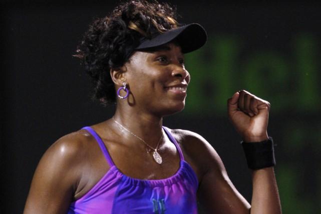Venus Williams a éliminé Iveta Benesova en deux... (Photo: Reuters)