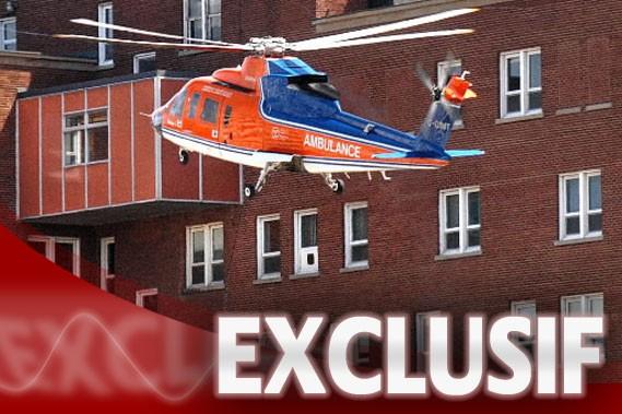Un service d'hélicoptères-ambulances ne figure pas dans les... (Photo PC)
