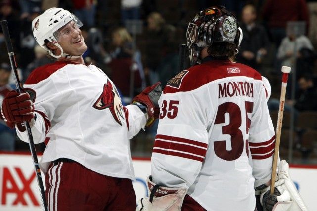Shane Doan et Al Montoya... (Photo: AP)