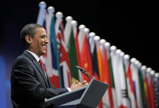 Barack Obama au G20.... (AFP/Saul Loeb)