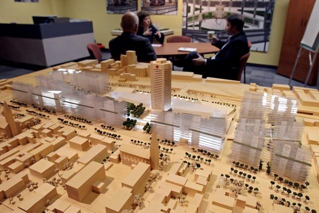 Radio-Canada a présenté les maquettes du projet immobilier... (Photo: Robert Mailloux, La Presse)