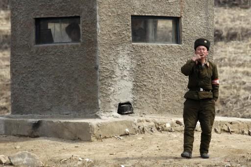 Un soldat nord-coréen... (Photo: AP)