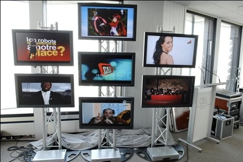 Touchées par la récession et la révolution numérique, télévision et publicité... (Photo: AFP)