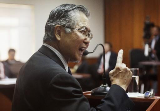 Alberto Fujimori à son procès.... (REUTERS/Enrique Castro-Mendivil)