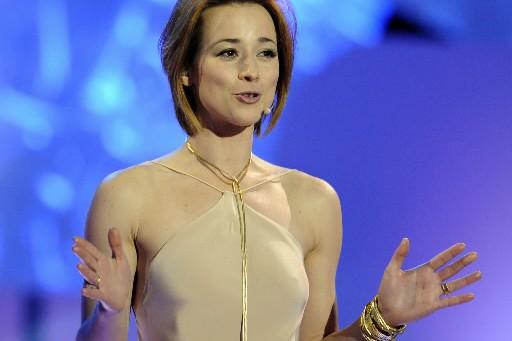 Karine Vanasse a ouvert le gala en portant... (Photo: Bernard Brault, La Presse)
