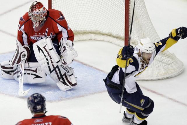 Les Sabres de Buffalo se sont approchés à quatre points du huitième rang de... (Photo: AP)