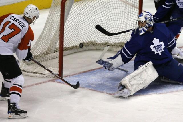 Jeff Carter a marqué trois buts dans le même match pour la première fois de sa... (Photo: Reuters)
