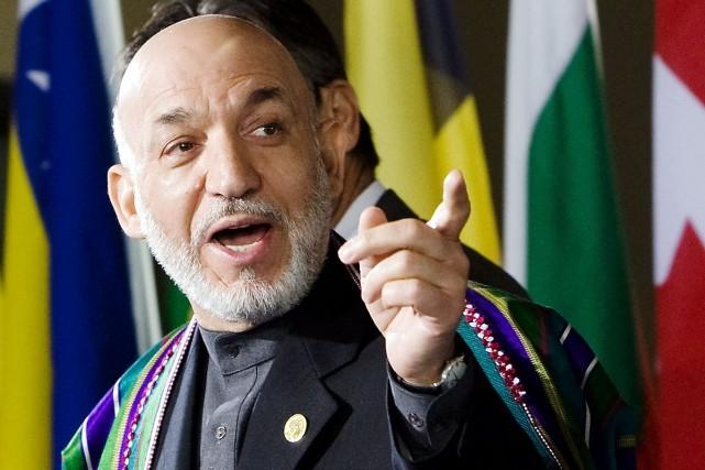 Le président afghan Hamid Karzaï.... (Photo Marcel Antonisse, AFP)