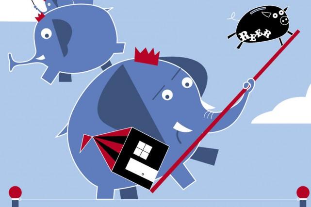 Payer la maison et élever les enfants. Économiser pour la retraite. Plusieurs... (Illustration: Julien Chung, La Presse)