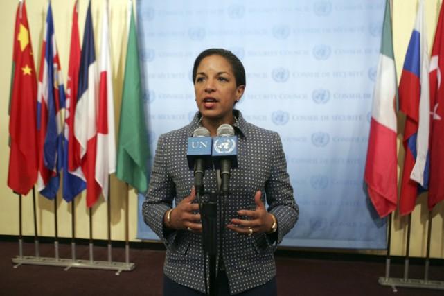 L'ambassadrice américaine auprès des Nations unies, Susan Rice,... (Photo: Reuters)