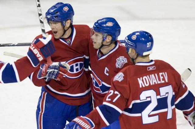 Le premier trio du Canadien totalise 34 points... (Photo: La Presse)