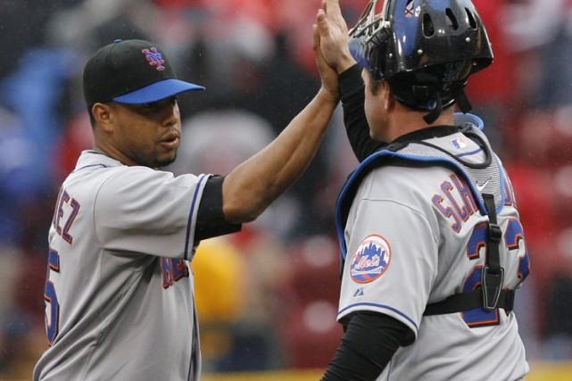 Francisco Rodriguez a retiré dans l'ordre les trois... (Photo: Reuters)