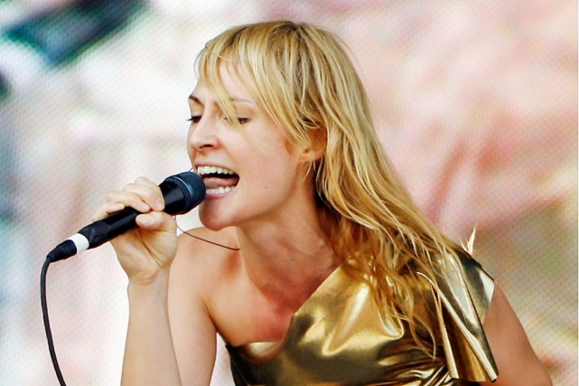Emily Haines du groupe Metric.... (Photo: AP)